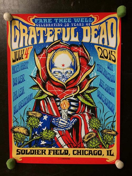 Android Jones Grateful Dead Chicago Poster 2015 Fare Thee